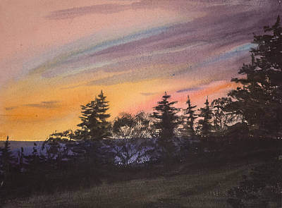 Painting - Sunset by Peggy Poppe