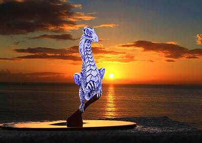 Digital Art - Sunset Perch by Ed Lukas