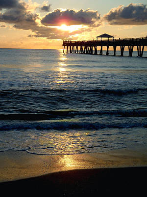 Hobe Photograph - Sunset Pier by Carey Chen