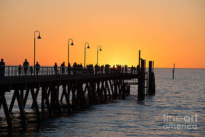 Photograph - Sunset Pier II by Ray Warren