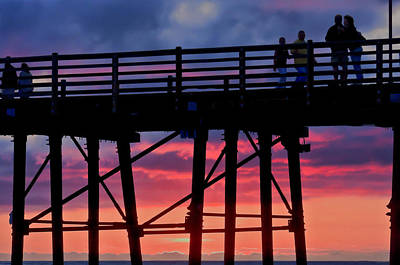 Photograph - Sunset Pier by Julianne Bradford