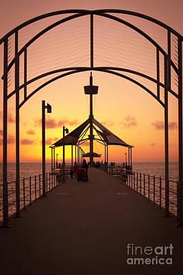 Photograph - Sunset Pier by Ray Warren