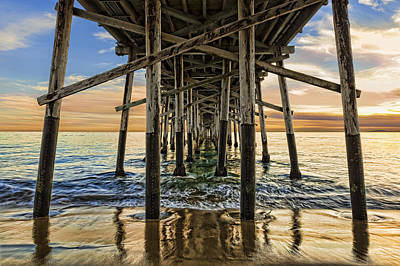 Photograph - Sunset Pilings by Kelley King