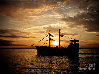 Photograph - Sunset Pirate Cruise by Mark Miller