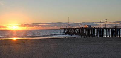 Sunset Pismo Beach Pier Art Print