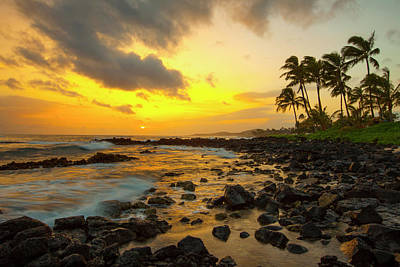 Photograph - Sunset, Poipu, Kauai, Hawaii, Usa by Danita Delimont
