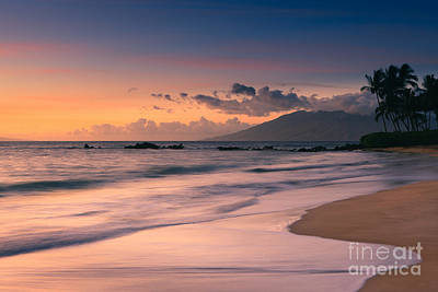 Sunset Poolenalena Beach - Maui Art Print by Henk Meijer Photography