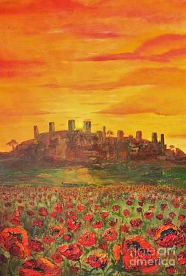 Tuscan Sunset Painting - Sunset Poppies by Jodi Monahan
