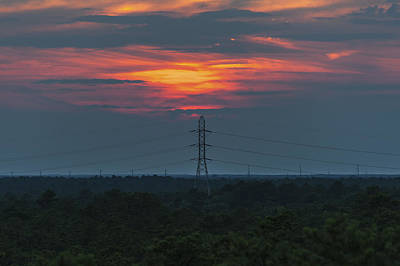 New Jersey Pine Barrens Photograph - Sunset Power Over Pine Barrens Nj by Terry DeLuco