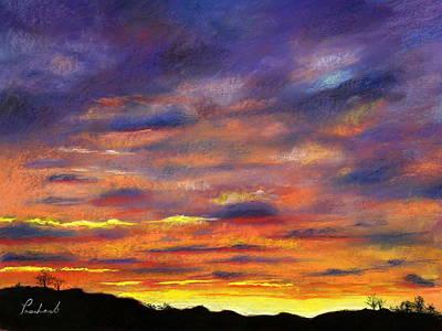 Sunset Art Print by Prashant Shah