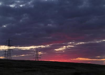 Sunset Pylon - 2 Art Print