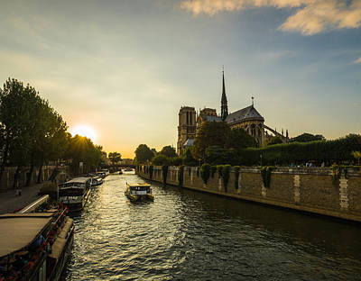 Photograph - Sunset Rays Over Notre Dame Cathedral by Gurgen Bakhshetsyan