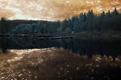 Art Print featuring the photograph Sunset by Rebecca Parker