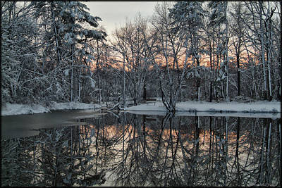 Photograph - Sunset Reflection by Erika Fawcett