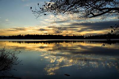 Art Print featuring the photograph Sunset Reflection by Yulia Kazansky