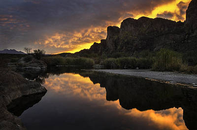 Reflected Photograph - Sunset Reflections 1 by Dave Dilli
