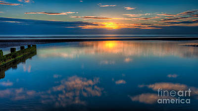 Sunset Reflections Art Print by Adrian Evans