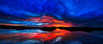 Photograph - Sunset Reflections by Mark Andrew Thomas