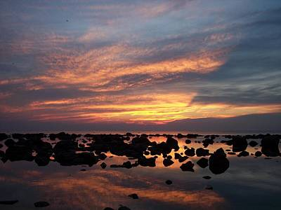 Photograph - Sunset Reflections by Michelle Miron-Rebbe