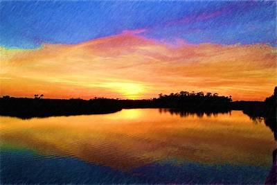 Photograph - Sunset Reflections by Richard Zentner