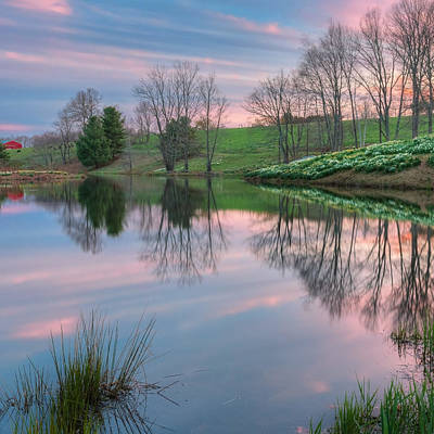 Photograph - Sunset Reflections Square by Bill Wakeley