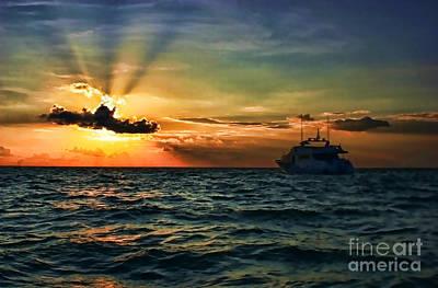 Photograph - Sunset Regatta  by Diana Raquel Sainz