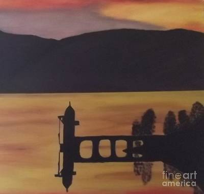Painting - Sunset Reservoir  by Tracey Williams