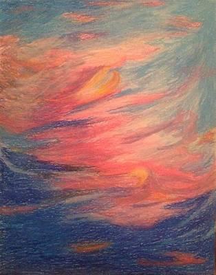 Wall Art - Drawing - Sunset Rhapsody by Kerrie B Wrye