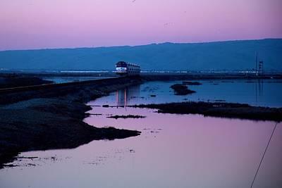 Alviso Photograph - Sunset Ride by Bob Wall