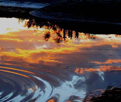 Photograph - Sunset Ripples by Trent Mallett
