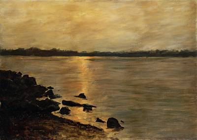 Painting - Sunset River Potomac River Washington Dc Maryland by G Linsenmayer