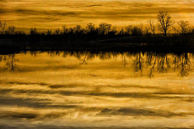 Photograph - Sunset Riverlands West Alton Mo Sepia Tone Dsc03319 by Greg Kluempers
