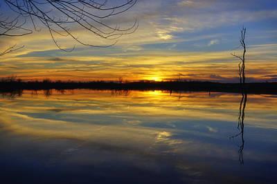 Photograph - Sunset Riverlands West Alton Mo Dsc03329 by Greg Kluempers