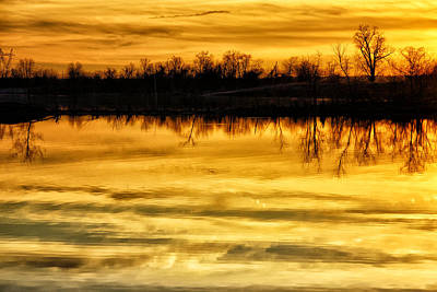 Photograph - Sunset Riverlands West Alton Mo Dsc03319 by Greg Kluempers