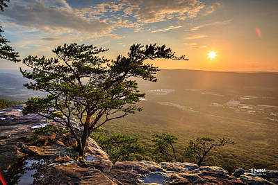 Chattanooga Tennessee Photograph - Sunset Rock On Lookout Mountain by Steven Llorca