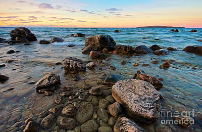 Photograph - Sunset Rocks by Charline Xia