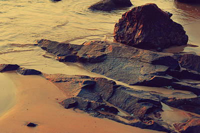 Art Goa Photograph - Sunset Rocks by Jenny Rainbow