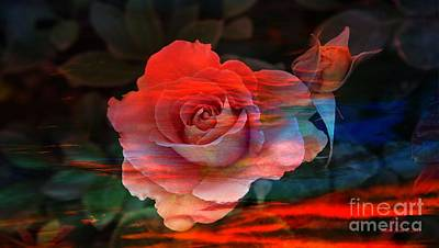 Photograph - Sunset Rose by AZ Creative Visions