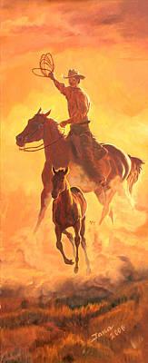 Painting - Sunset Run R by Jana Goode