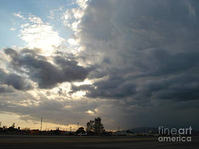 Whiteman Airport Photograph - Sunset Runway by Linda De La Rosa
