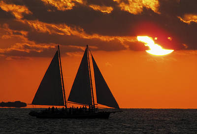 Photograph - Key West Sunset Sail 3 by Bob Slitzan
