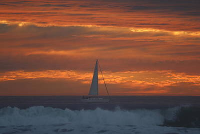 Photograph - Sunset Sail  by Christy and Chad Pooschke
