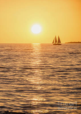 Sailboat Photograph - Sunset Sail by Jon Neidert
