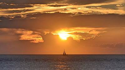 New Years Royalty Free Images - Sunset Sail Royalty-Free Image by Melinda Baugh