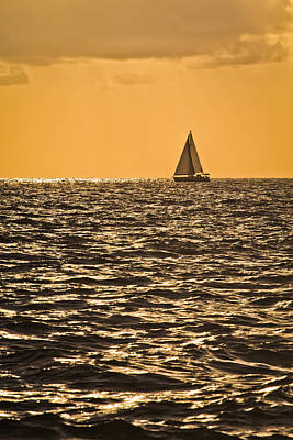 Photograph - Sunset Sail by Patrick M Lynch