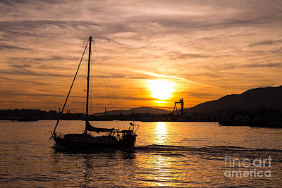 Popstar And Musician Paintings Royalty Free Images - Sunset Sailing Royalty-Free Image by Brigitte Mueller