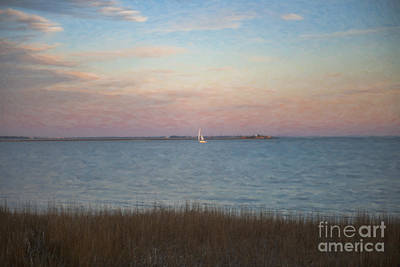 Sunset Sailing Art Print by Dale Powell