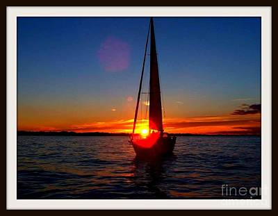 David Gray Photograph - Sunset Sailing by David Gray