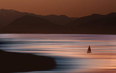Photograph - Sunset Sailing by David Orias