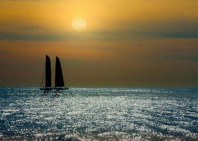 Sunset Photograph - Sunset Sailing by Doug Oriard